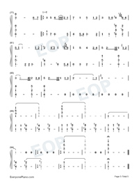 Hymn to the sea-Titanic OST Numbered Musical Notation Preview 5