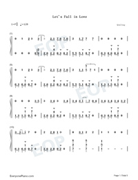 Lets Fall in Love for the Night-Finneas-Numbered-Musical-Notation-Preview-1