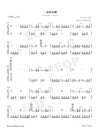 Constant Silence-Perfect Version-Numbered-Musical-Notation-Preview-1