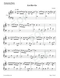 let her go-c major-easy version- free piano sheet music & piano chords  everyone piano