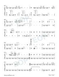 Your Name Song Medley-Numbered-Musical-Notation-Preview-3