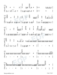 No Turning Back-JJ Lin-Numbered-Musical-Notation-Preview-2