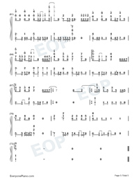 No Turning Back-JJ Lin-Numbered-Musical-Notation-Preview-5