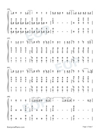 You Will Be Back-Hamilton OST-Numbered-Musical-Notation-Preview-3