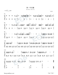 Another Heaven-Easy Version-Numbered-Musical-Notation-Preview-1
