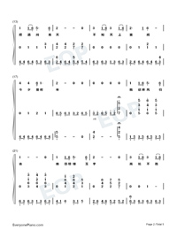Wishing We Last Forever-Numbered-Musical-Notation-Preview-2