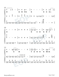 Wishing We Last Forever-Numbered-Musical-Notation-Preview-3