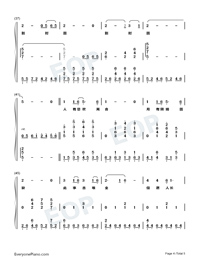 Wishing We Last Forever-Numbered-Musical-Notation-Preview-4