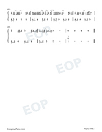 Rainy Day-Easy Version-Numbered-Musical-Notation-Preview-2