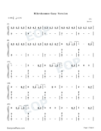 Mikrokosmos-BTS Numbered Musical Notation Preview 1
