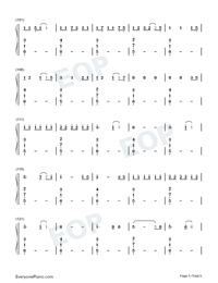 Mikrokosmos-BTS Numbered Musical Notation Preview 5