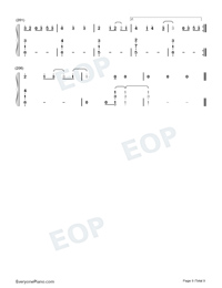 Mikrokosmos-BTS Numbered Musical Notation Preview 9