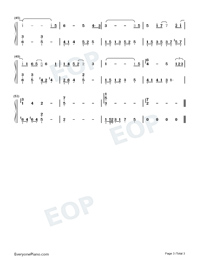 Rain-Go Ahead OST-Numbered-Musical-Notation-Preview-3