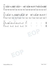 AINY-Easy Version Numbered Musical Notation Preview 2