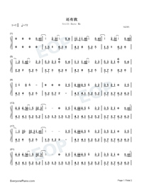 Still Have Me-Easy Version Numbered Musical Notation Preview 1