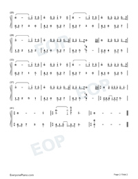The Lonely Street-Easy Version Numbered Musical Notation Preview 2