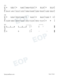 Moon in LuZhou-Easy Version Numbered Musical Notation Preview 2