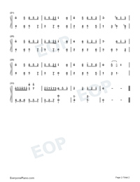 Animal World-Easy Version Numbered Musical Notation Preview 2