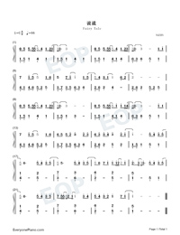 Fairy Tale-Easy Version Numbered Musical Notation Preview 1