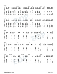 Un Dia One Day-Numbered-Musical-Notation-Preview-2