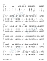 Un Dia One Day-Numbered-Musical-Notation-Preview-3