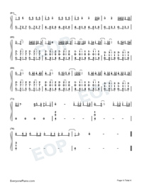 Un Dia One Day-Numbered-Musical-Notation-Preview-4