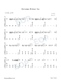 Christmas Without You-Ava Max-Numbered-Musical-Notation-Preview-1
