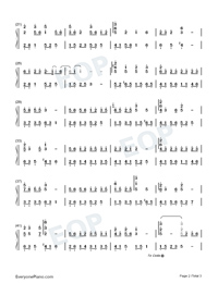 Birchleaf Pear with Fine Snow-Perfect Version Numbered Musical Notation Preview 2