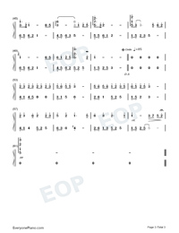 Birchleaf Pear with Fine Snow-Perfect Version Numbered Musical Notation Preview 3