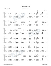 The Lost Ones-JJ Lin-Numbered-Musical-Notation-Preview-1