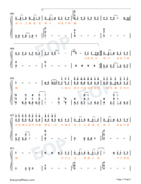 Fickle-TikTok Hot Song Numbered Musical Notation Preview 3