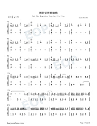 Put The Memories Together For You-Numbered-Musical-Notation-Preview-1