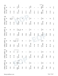 Happy Xmas War Is Over-Numbered-Musical-Notation-Preview-3