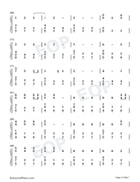 Happy Xmas War Is Over-Numbered-Musical-Notation-Preview-4