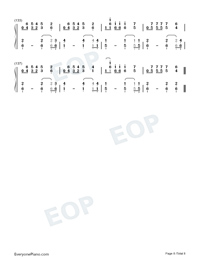 Imagine Dragon Songs Medley Numbered Musical Notation Preview 8