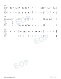 The Twelve Days of Christmas-Easy Version Numbered Musical Notation Preview 2
