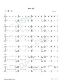 Holiday-Christmas-themed Song-Lil Nas X Numbered Musical Notation Preview 1