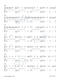 Holiday-Christmas-themed Song-Lil Nas X Numbered Musical Notation Preview 2