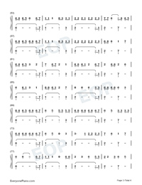 Holiday-Christmas-themed Song-Lil Nas X Numbered Musical Notation Preview 3