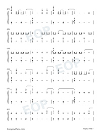 Life Goes On-BTS Numbered Musical Notation Preview 2