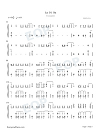 La Di Da-Everglow-Numbered-Musical-Notation-Preview-1