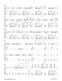 La Di Da-Everglow-Numbered-Musical-Notation-Preview-2
