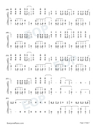 La Di Da-Everglow-Numbered-Musical-Notation-Preview-3