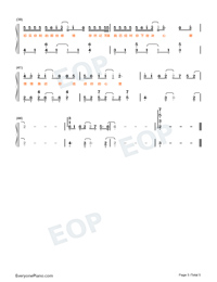 1022- Bi Er De Ge-TikTok Hot Song-Numbered-Musical-Notation-Preview-5
