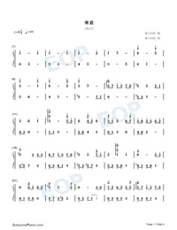 Chill-Original Music-Numbered-Musical-Notation-Preview-1