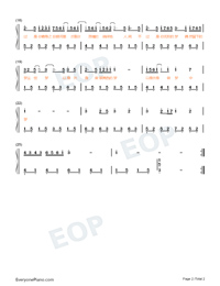 A Love Note to the Filmmakers-Easy Version-Numbered-Musical-Notation-Preview-2