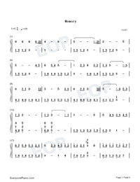 Memory-Departures Theme-Numbered-Musical-Notation-Preview-1