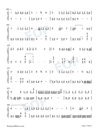 Memory-Departures Theme-Numbered-Musical-Notation-Preview-3