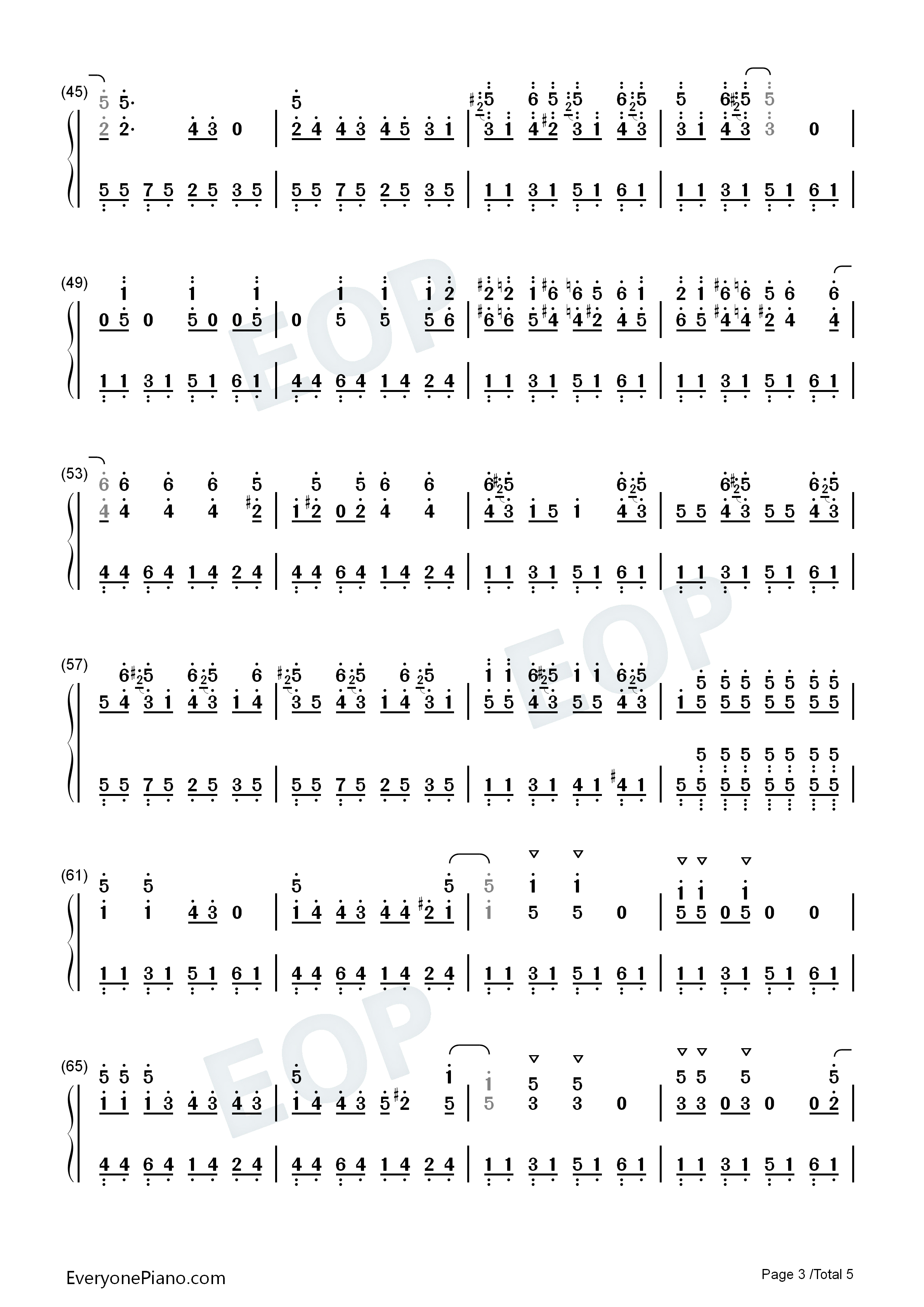 Run Rudolph Run-Christmas Song Numbered Musical Notation Preview 3