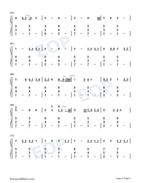 Cowboy Like Me-Taylor Swift-Numbered-Musical-Notation-Preview-4